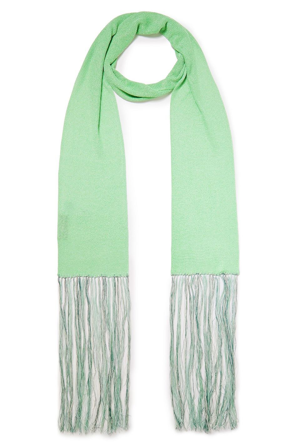 Photo of Light green Fringed knitted scarf | Sale up to 70% off | THE OUTNET | MISSONI
