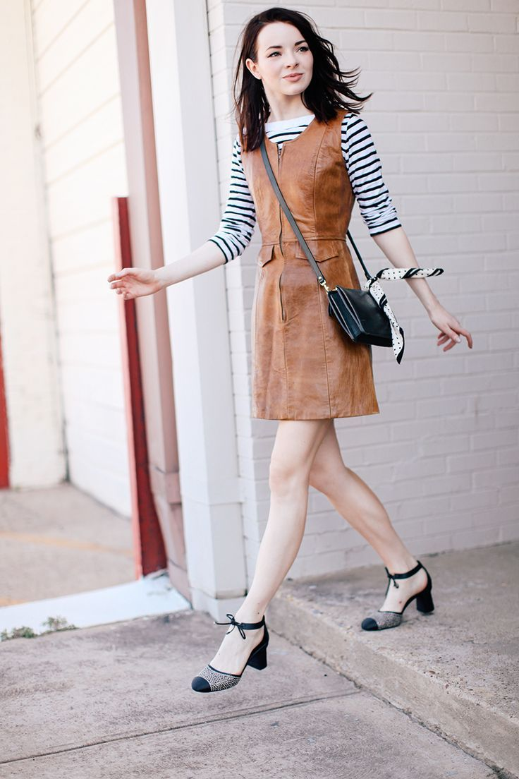 brown shift dress