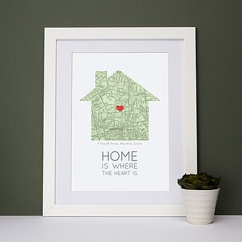 Home Is Where The Heart Is Map Print