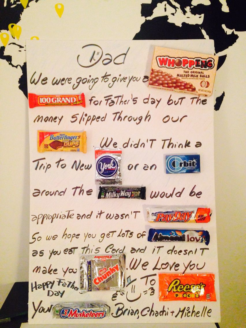 Father's Day candy card