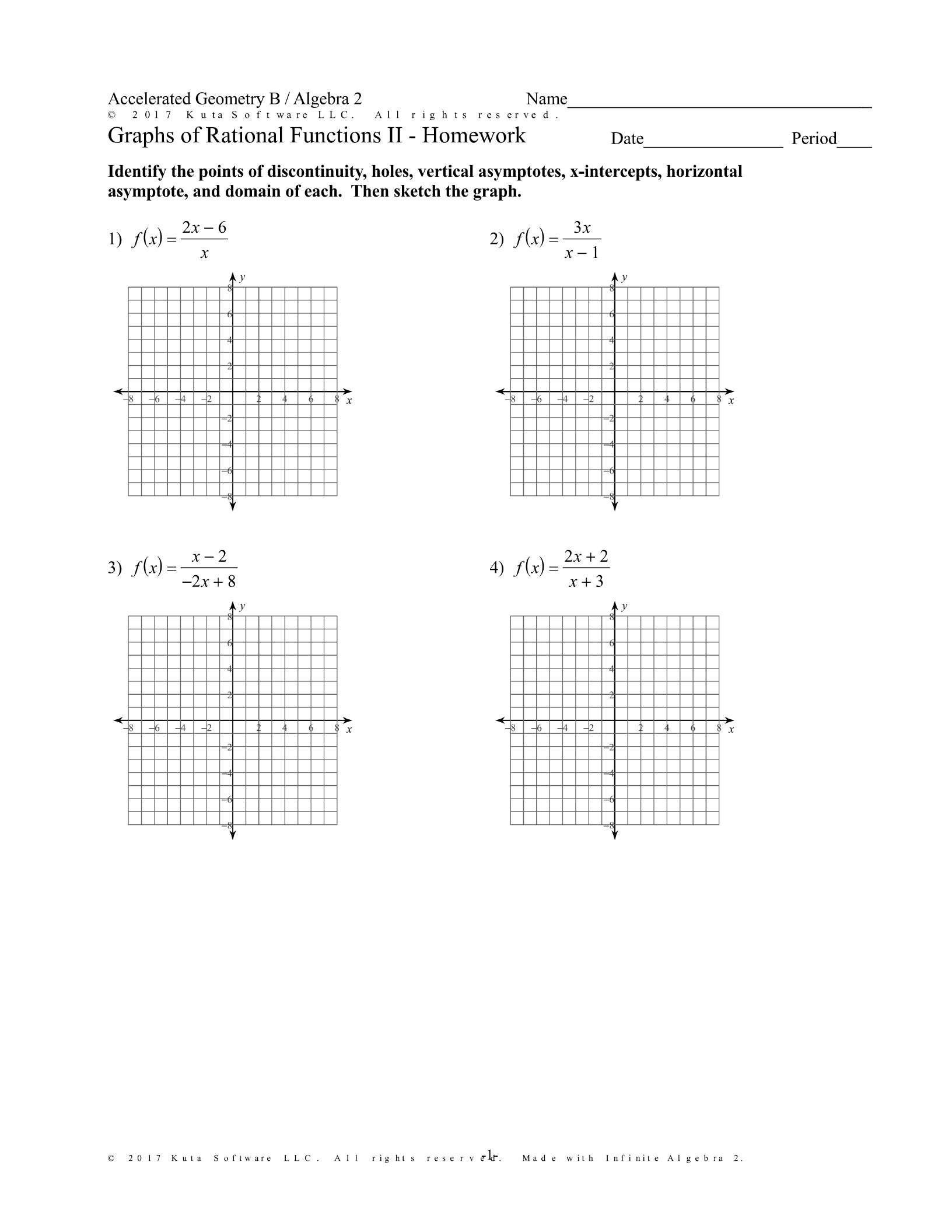 5 Graphing Quadratic Functions Worksheet Answers Algebra 2