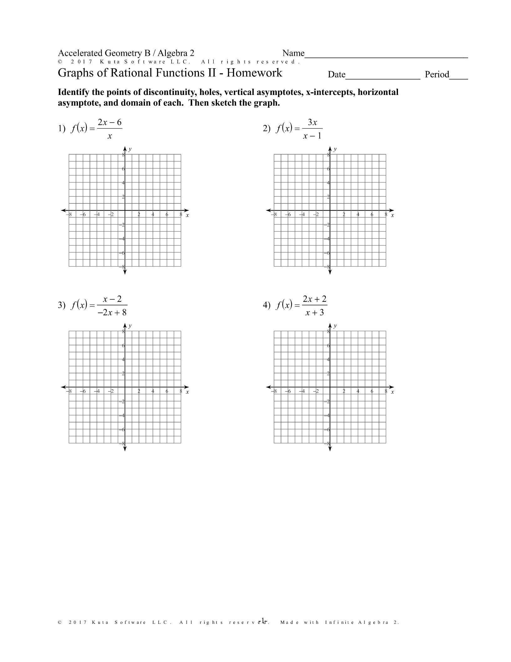 5 Graphing Quadratic Functions Worksheet Answers Algebra 2