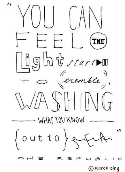 One Republic - If I lose myself. 2013   One republic ...Quotes From Song Lyrics 2013