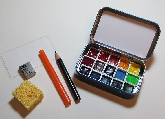 Mini Watercolor Palette Artist Grade Paints Full Color Wheel
