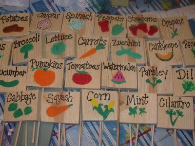 Funny Garden Signs | These Are Some Little Wood Garden Signs I Painted To  Mark All