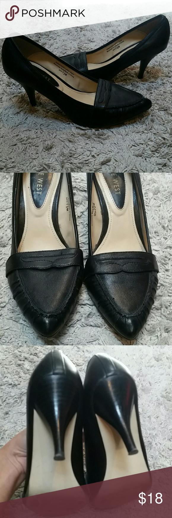 Nine West Black Heel Pumps Worn only about 3 times. In very good condtion! Nine West Shoes Heels