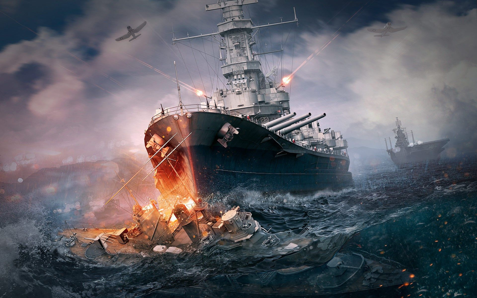 1920x1200 World Of Warships Game Wallpaper Angkatan Laut