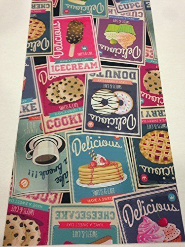 Tappeto cucina 52 x 240 vintage gelato caffe coffe dolci cookies ...
