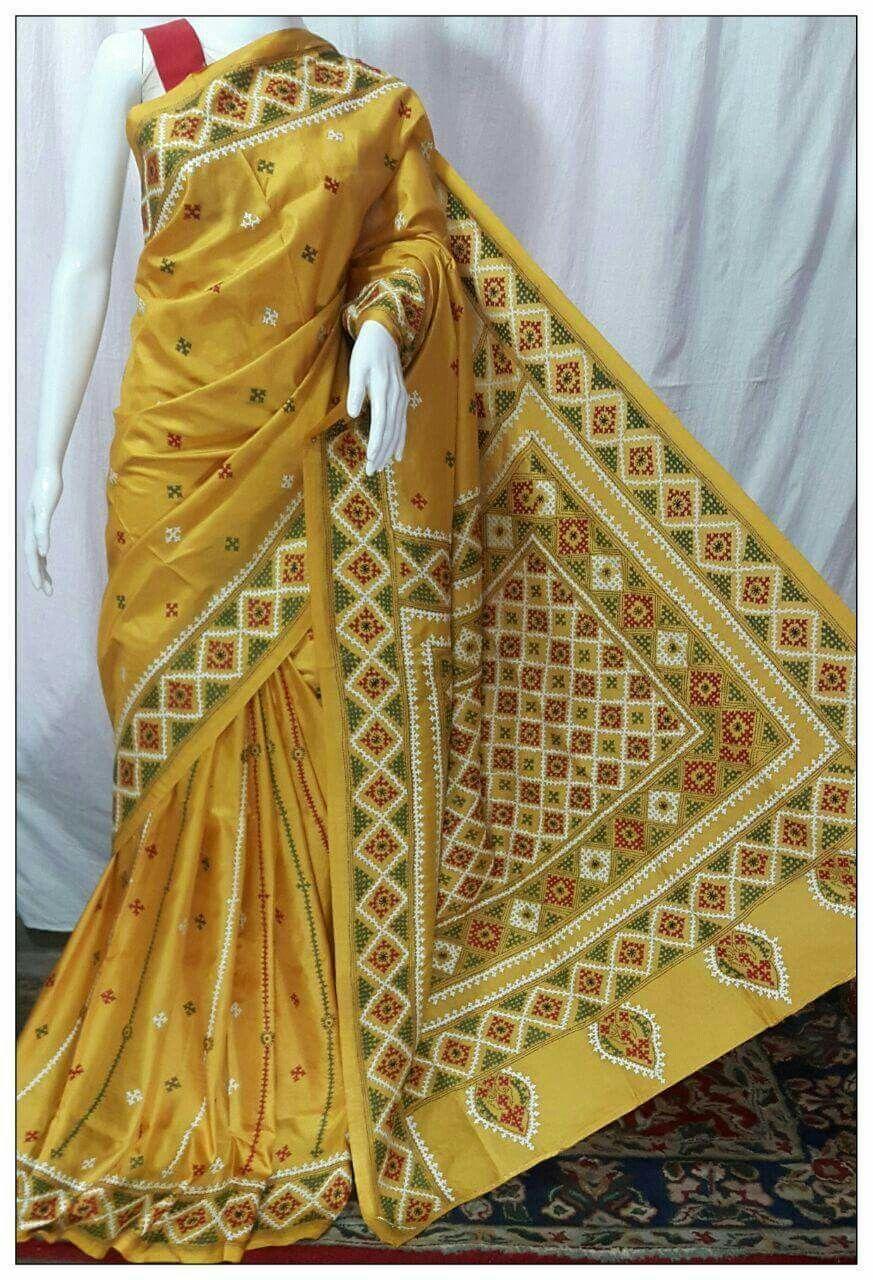 Kutch work saree   Kutchwork   Pinterest