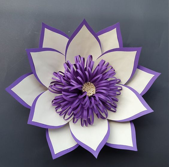 Large paper flower paper flower home decor paper flower for first this listing is for a 1 two colored lotus flower its can be customized in any color custom orders welcome mightylinksfo