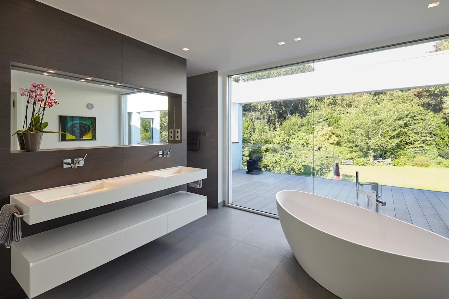 Villa S Moderne Badezimmer Von Lioba Schneider Modern Homify Modernes Badezimmer Tolle Badezimmer Badezimmer Design