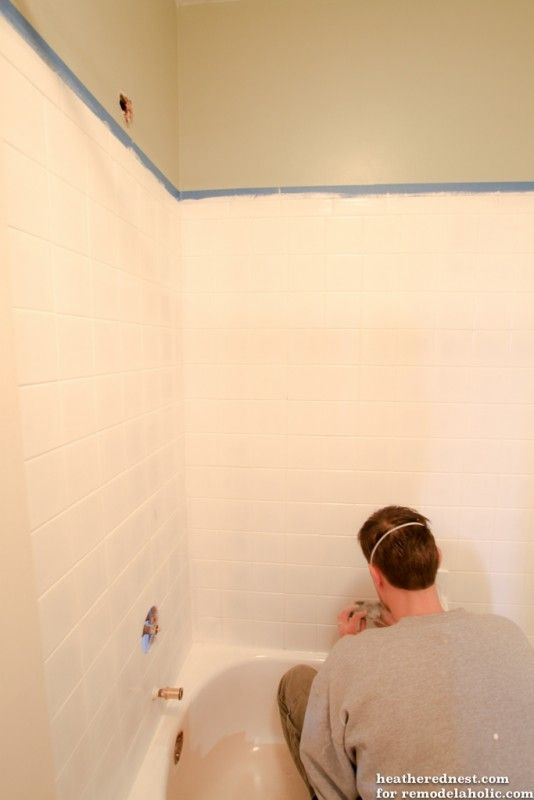 DIY tub and tile reglazing project! Lighten and brighten your bath ...