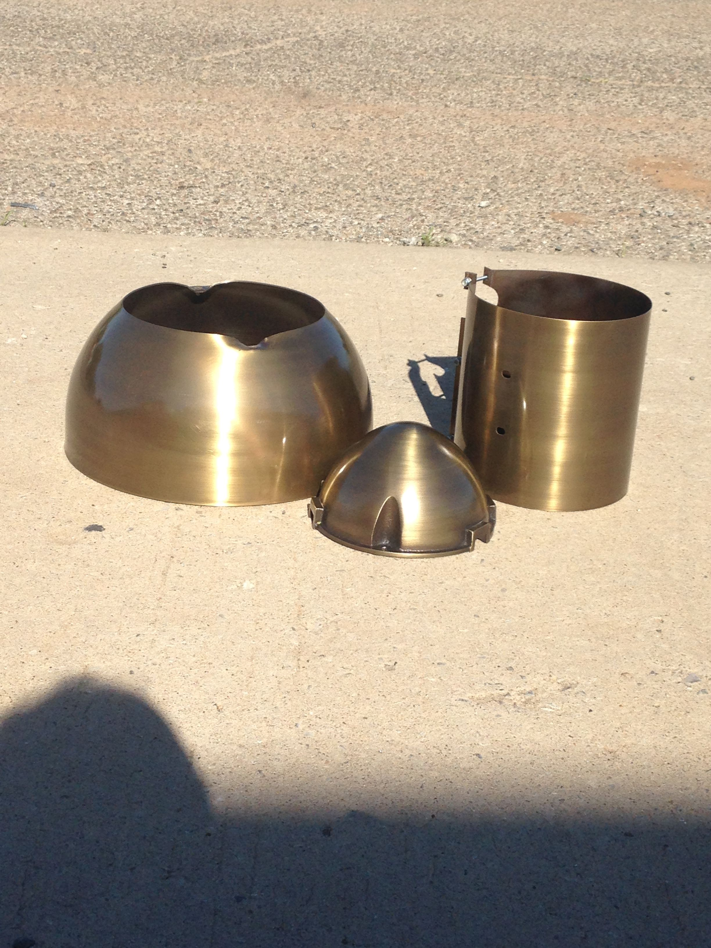 hight resolution of antique brass finish shorty armature cover exciter wrap and exciter cap