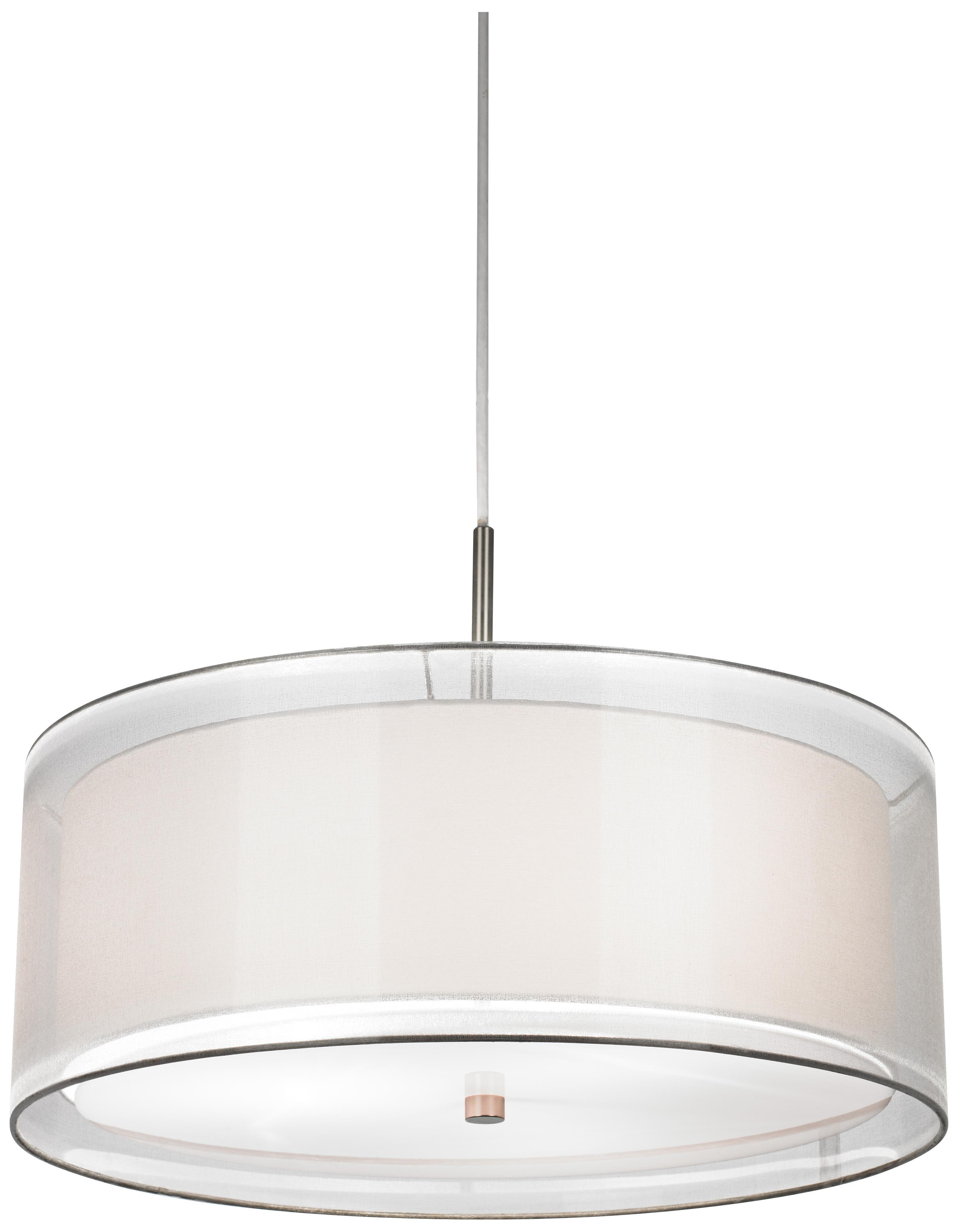Possini Euro Double Drum 20 Wide White Pendant Light V6122