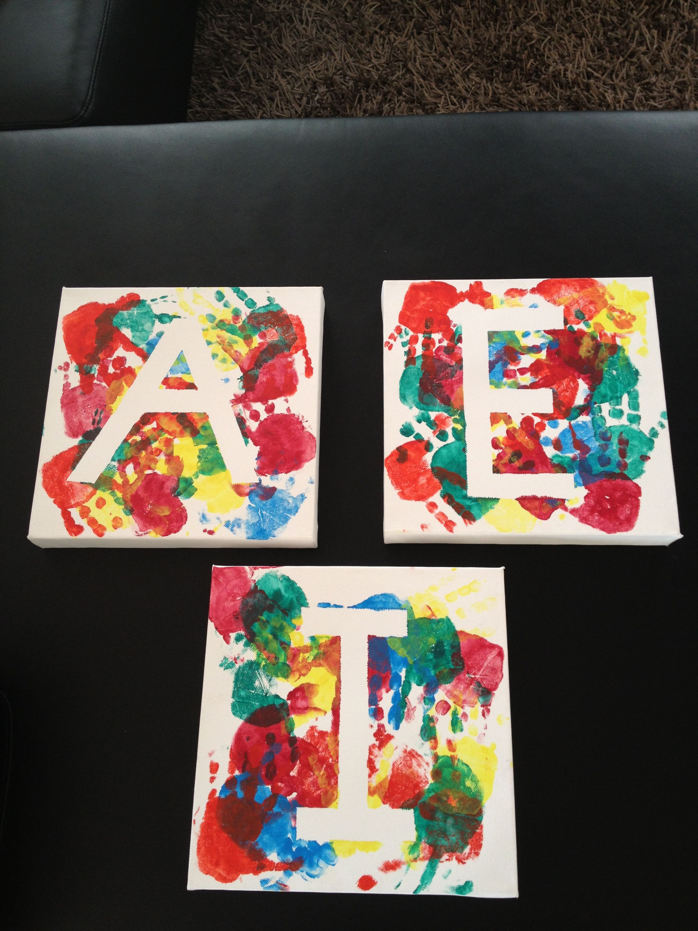 Canvas Art Masking Tape The Letter You Want Paint And Let It Dry Peel The Masking Tape Off And Your Done Painted Letters Canvas Art Canvas Painting
