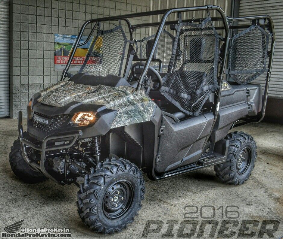 2016 honda pioneer 700 4 camo sxs utv side by side atv. Black Bedroom Furniture Sets. Home Design Ideas