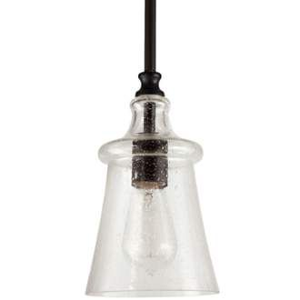 View The Park Harbor PHPL5481 Brushed Nickel Milford 6 Wide Single Light Mini Pendant With Glass ShadesOil