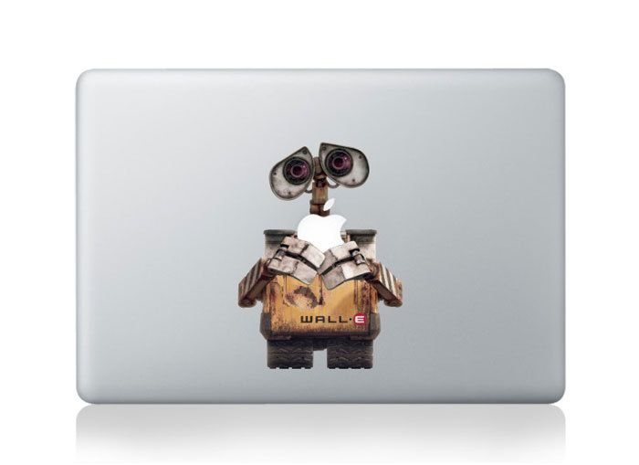 walle decals macbook stickers macbook mac decal mac sticker apple decal mac skin vinyl mac decals for mac pro /air/ipad/laptop. $8.99, via Etsy.
