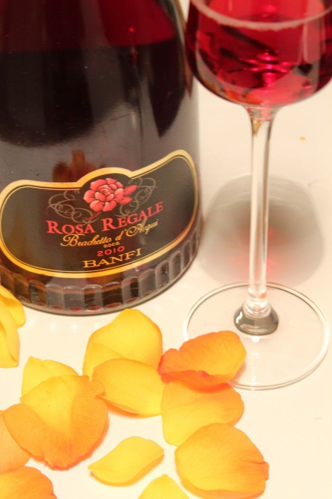 Rosa Regale, love at first sip. Plays well with a flourless dark chocolate raspberry cake.