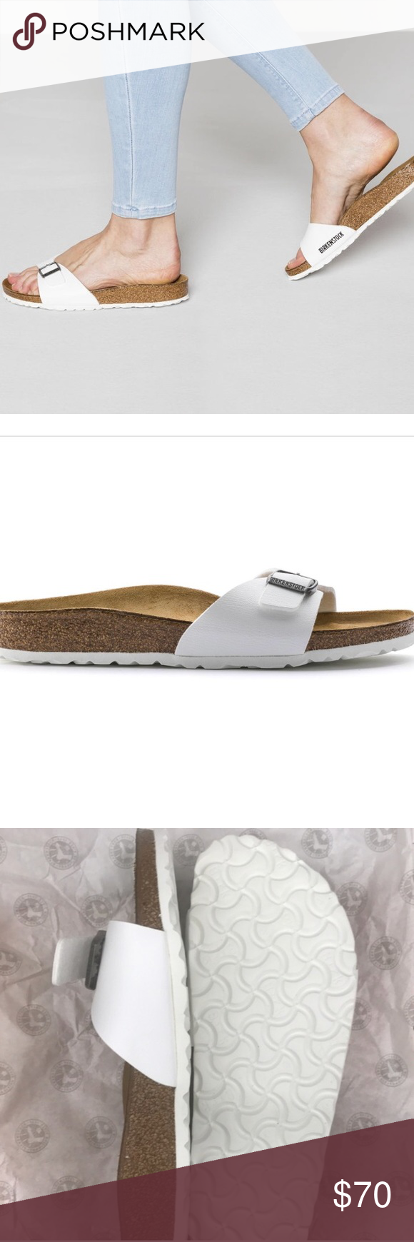 a9ecbba1a67 Birkenstock Madrid Birko Flor White Size euro 40   women s 9-9.5 narrow fit.  New with box. Birkenstock Shoes Sandals