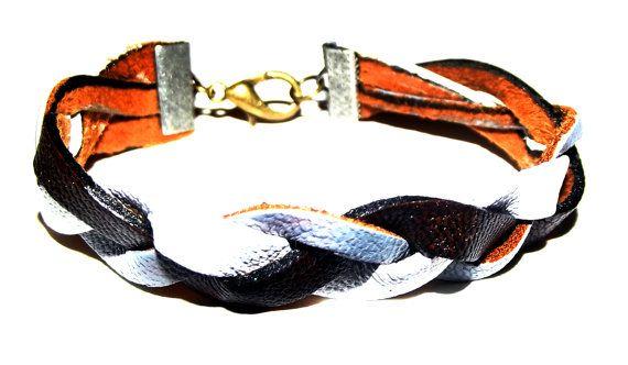 Black White and Grey Men's Braided Bracelet by Beatniq on Etsy, $17.50