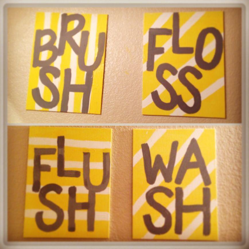 DIY Bathroom wall decor | KT\'s APT | Pinterest | Bathroom wall decor ...