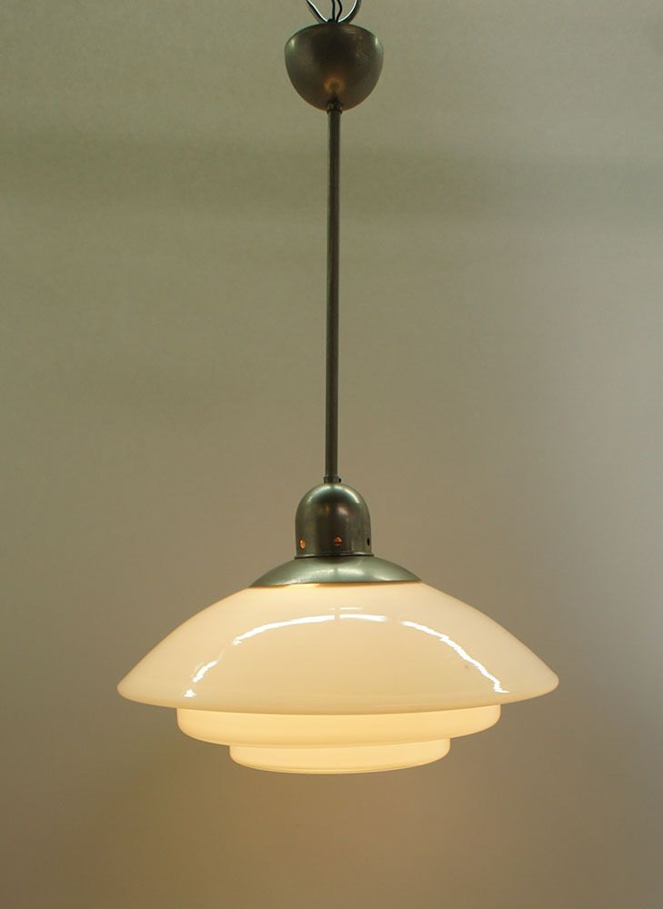 60er Jahre Deckenleuchte Pendelleuchte Lampe Glas Ceiling