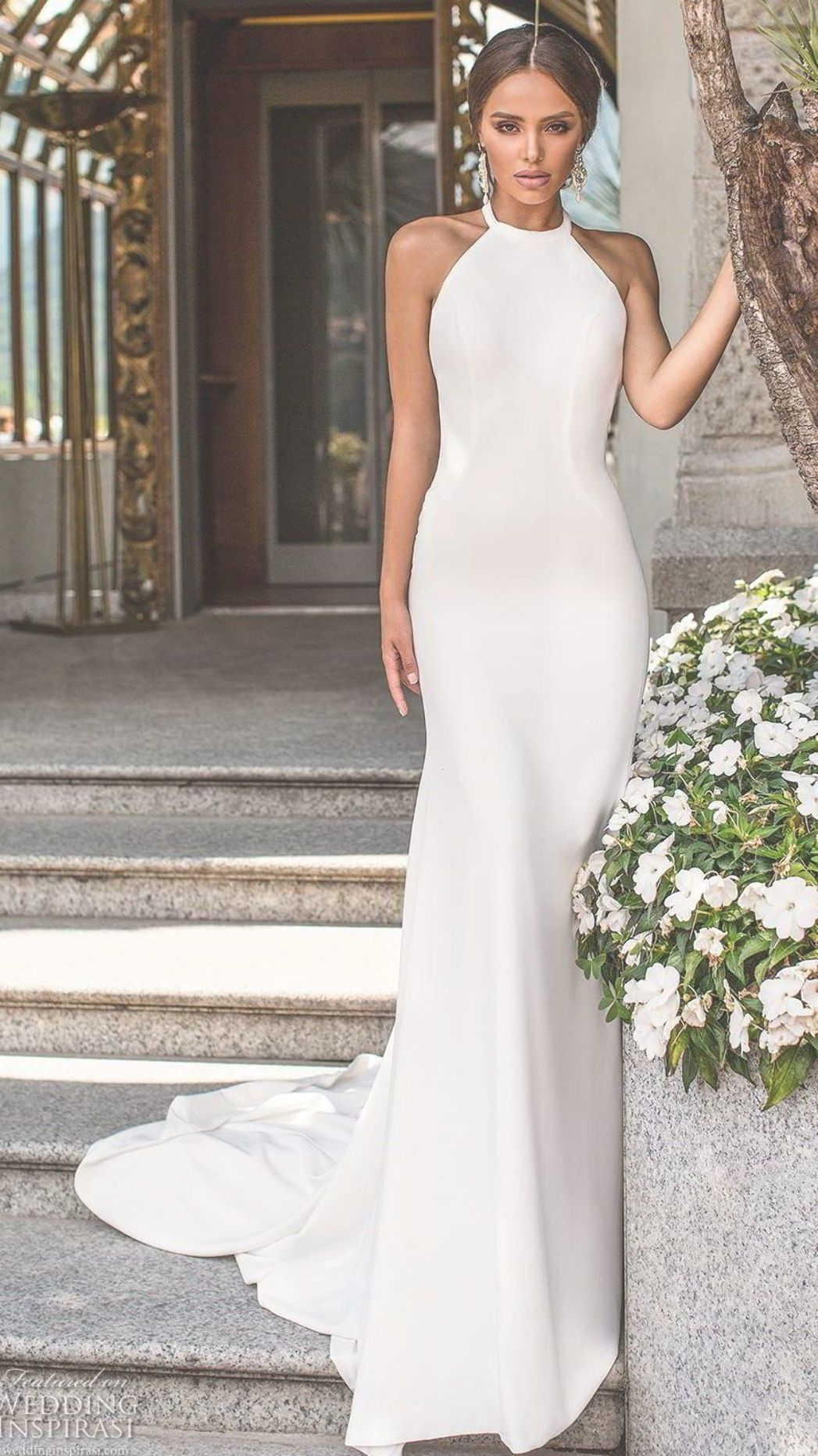 A Guide To Uncomplicated Mermaid Wedding Dresses Plans In 2021 Halter Wedding Dress Wedding Dresses Simple Wedding Dresses [ 1864 x 1047 Pixel ]