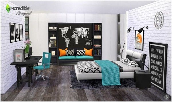 simcredible designs atemporal bedroom sims 4 downloads the sims 4 pinterest sims e sims 4. Black Bedroom Furniture Sets. Home Design Ideas
