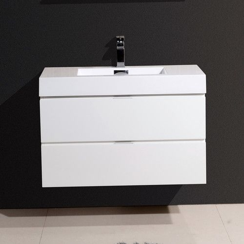 "Found it at Wayfair - Bliss 36"" Single Wall Mount Modern Bathroom Vanity Set"