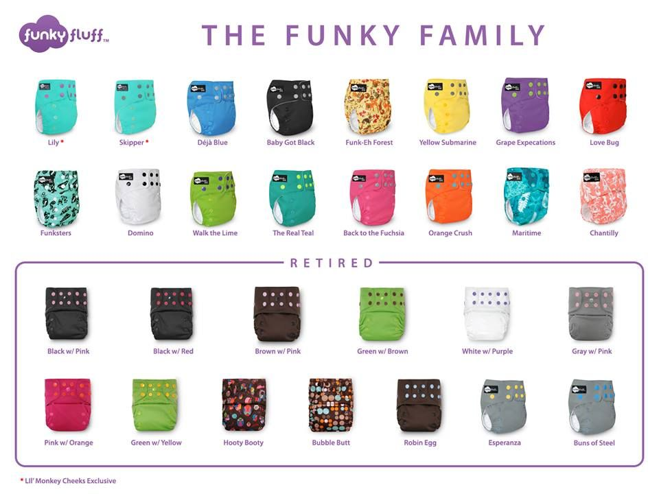 Funky Fluff Colour Chart Baby Stuff Pinterest Cloth Diapers