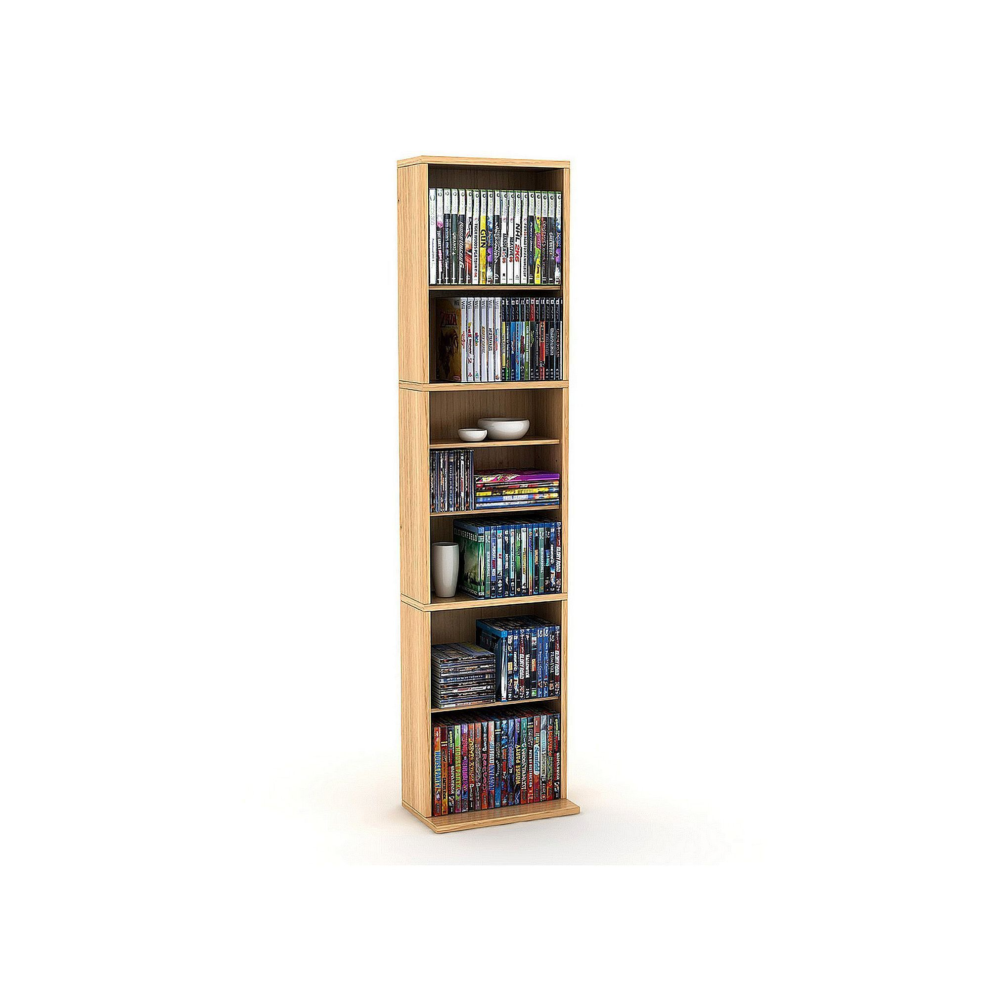 Atlantic Summit Multimedia Cabinet Brown Media Storage Cabinet