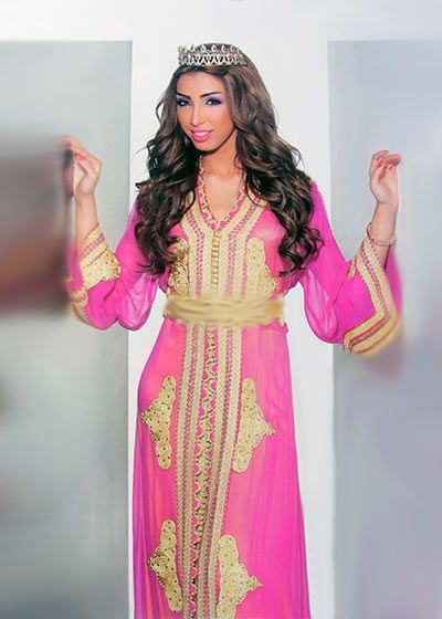 Caftan marocain pour mari e broderie haute couture rosz for Travailleuse couture pas cher