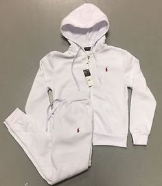 Polo Ralph Lauren Sweat Suit for Women White Top  Bottom Brand New w Tags KHADIJAHBottom