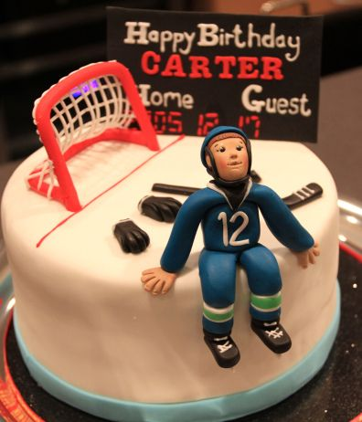 Hockey Cake and Cookies Hockey cake ahockeymomreviews Hockey