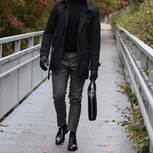 Trenchcoat  L Homme Rouge Jante s Polo  Calvin Klein Wool Turtleneck Pants   Oscar Jacobsson Deon 112 Monks  Selected Homme  4122cb342cfab