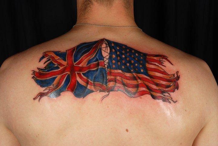 English flag tattoos 23 best uk flag tattoos flag