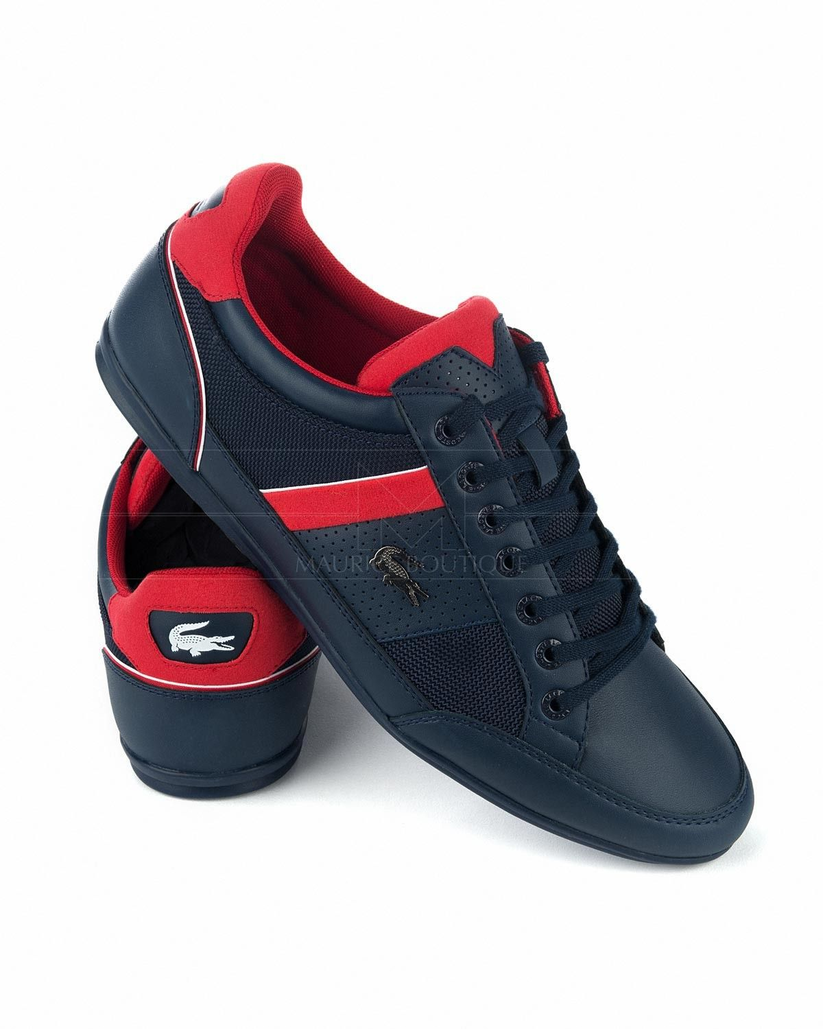 59470d07e489 LACOSTE © Shoes - Navy Blue   Red Chaymon
