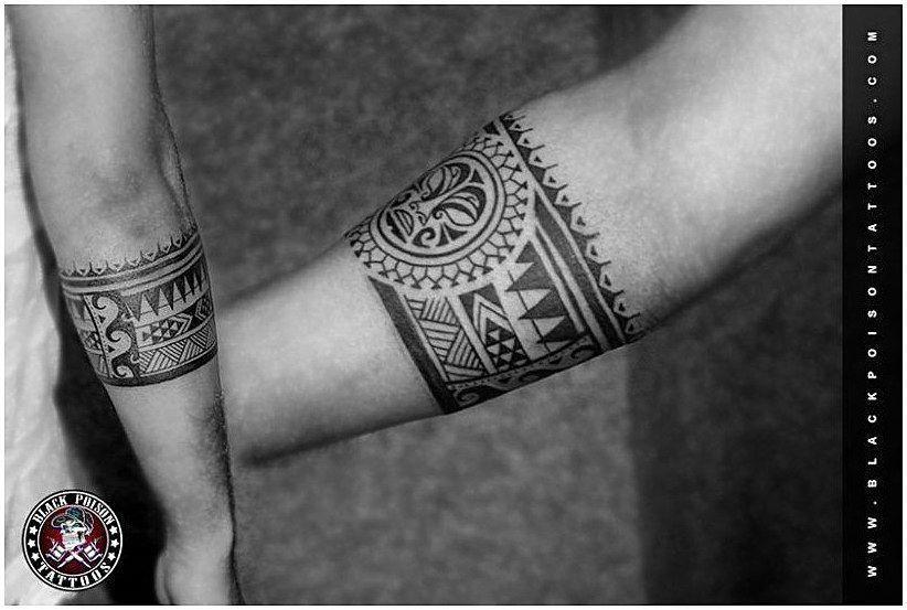 Polynesian Tattoos Tatouage Bracelet Avant Bras Tatouage