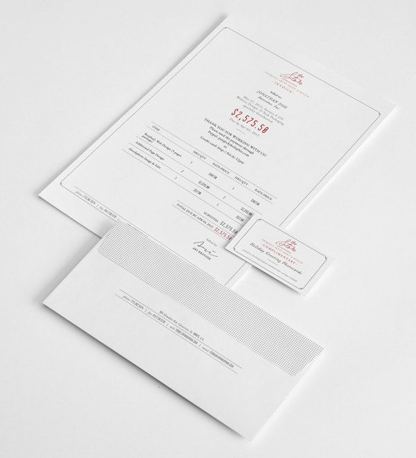 Brand  Identity design / Chykalophia Store by Ari Krzyzek, via - graphic design invoice sample