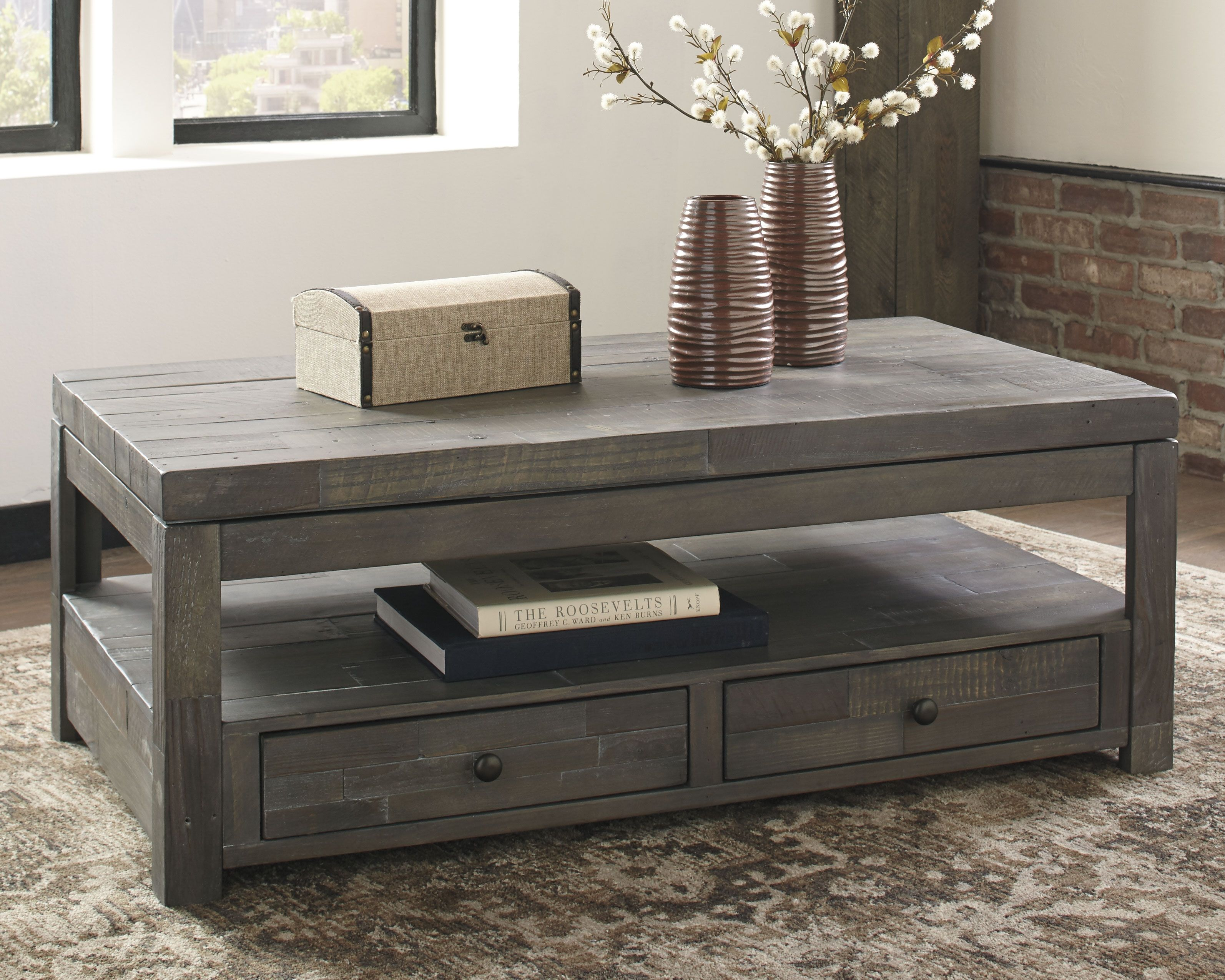 Daybrook Coffee Table With Lift Top Gray Coffee Table Grey Cool Coffee Tables Coffee Table [ 2550 x 3187 Pixel ]