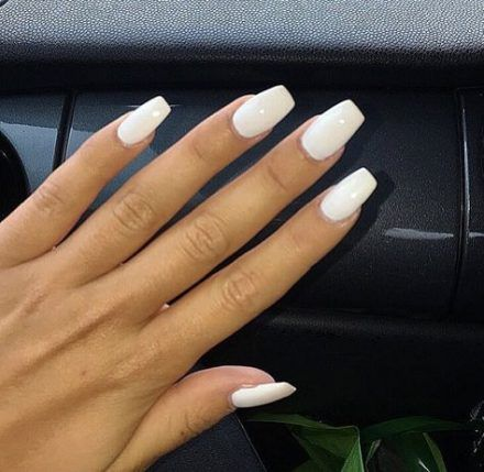 25 trendy nails coffin white manicures  acrylic nails