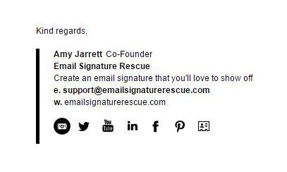 Wanna Know What Email Signature Template We Use At Email