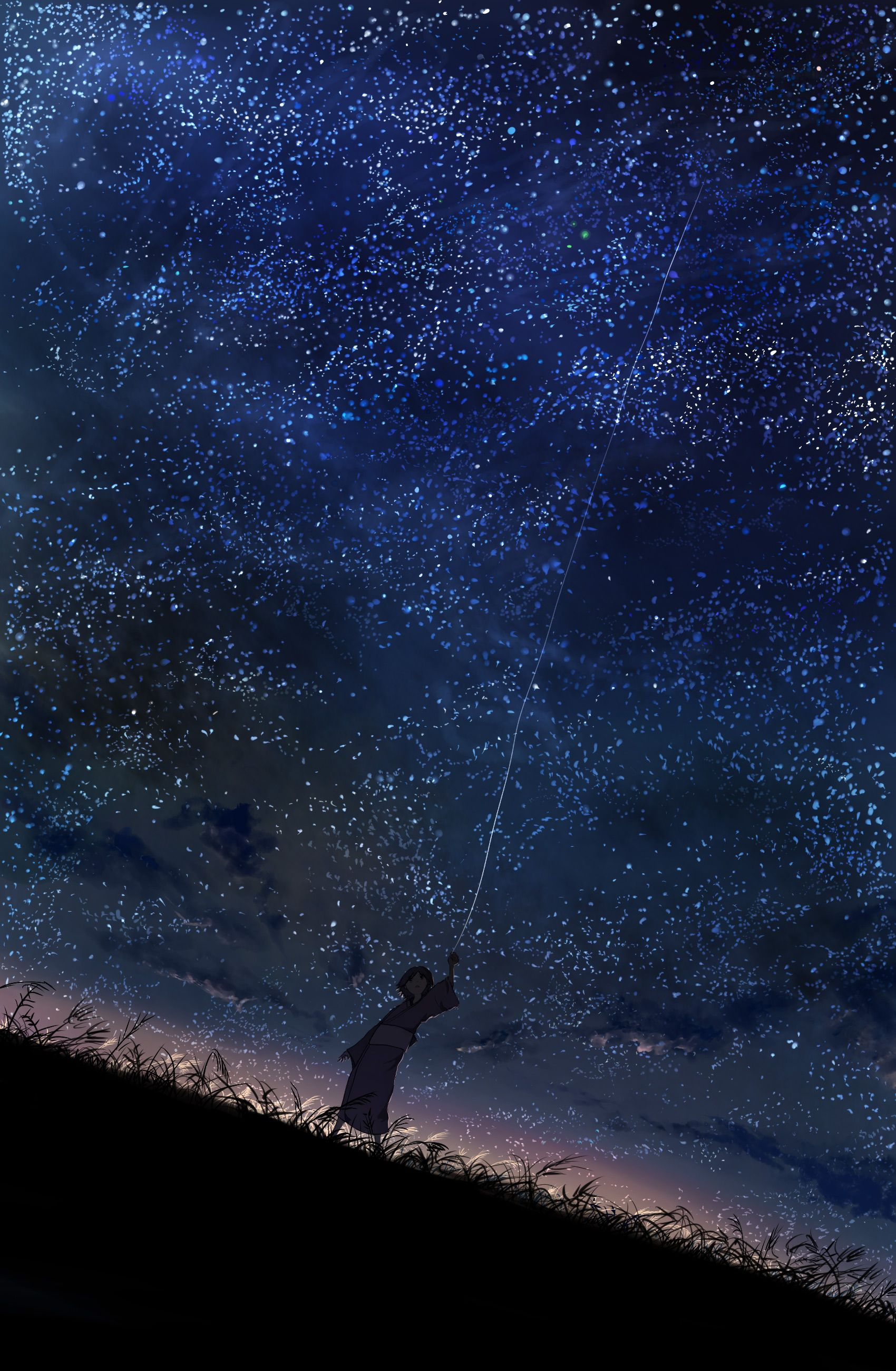Stars Mushishi Night Sky Fresh New Hd Wallpaper [Your