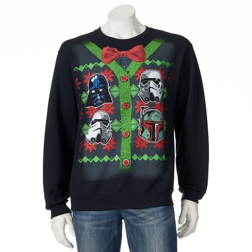 STAR WARS Darth Vader UGLY CHRISTMAS SWEATER SWEATSHIRT The Force ...