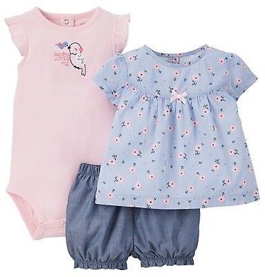db26edc08 Just One You® made by Carter's Just One YouMade by Carter's Baby Girls' 3pc  Floral Bird Set - Pink/Blue