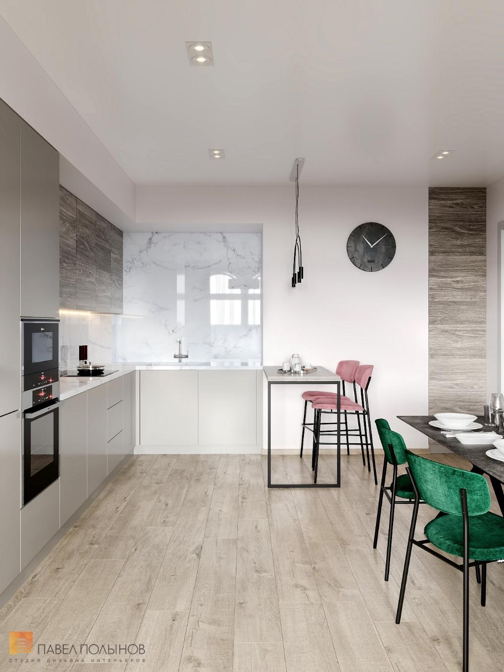 Фото кухня-гостиная из проекта «Интерьер квартиры в ...