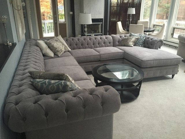 KENZIE STYLE ! Custom CHESTERFIELD dream sofa or sectional. Leather ...
