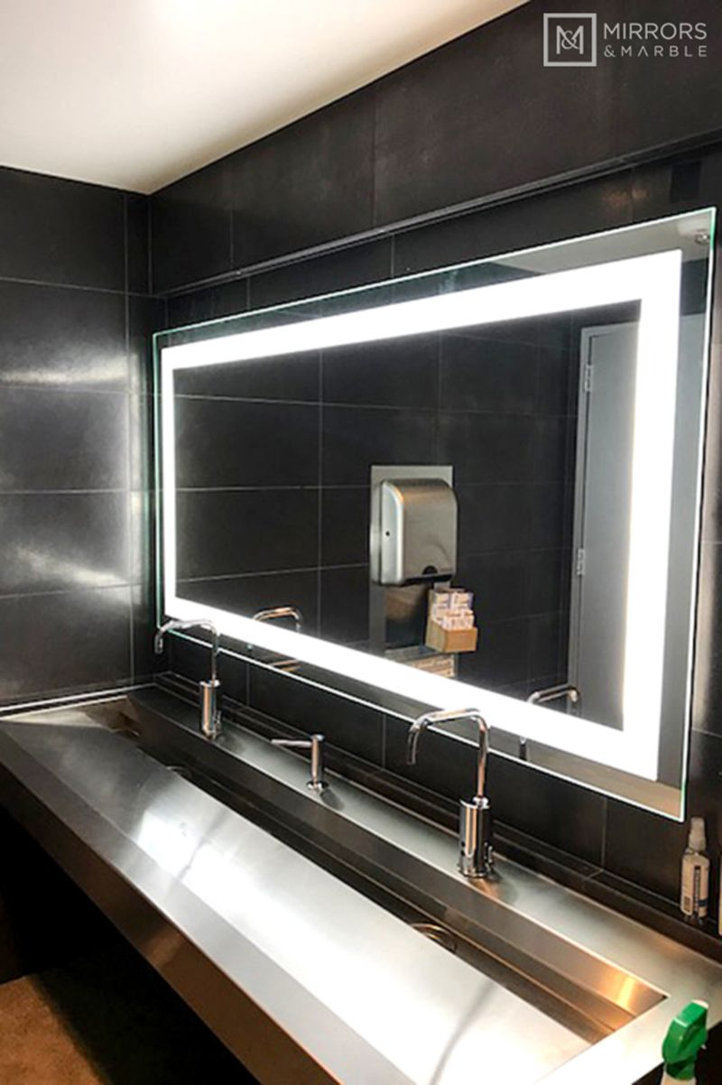 Front Lighted Led Bathroom Vanity Mirror 72 Wide X 36 Tall