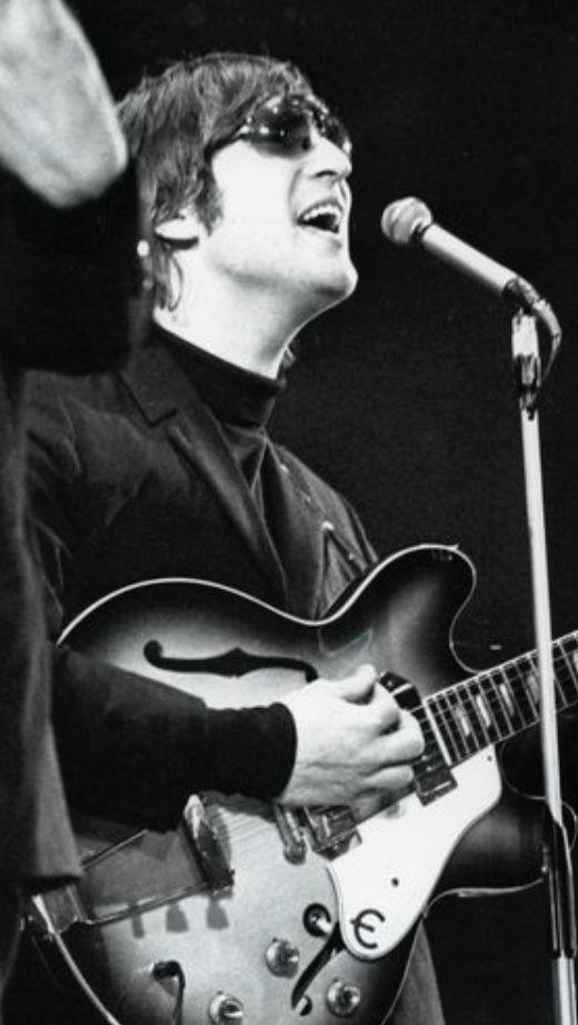 John And His Epiphone Guitar 1966